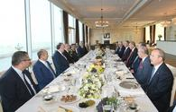 "Presidents of Azerbaijan and Turkey had joint working dinner <span class=""color_red"">[PHOTO]</span>"