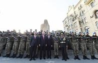 "Azerbaijani, Turkish presidents posed for photographs together with parade participants <span class=""color_red"">[PHOTO]</span>"