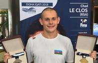 Azerbaijani swimmer won gold medal in FINA World Swimming Cup 2018