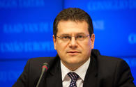 Sefcovic: Azerbaijan, Caspian region important partners of Europe in energy sector