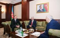 "President Aliyev meets speaker of Grand National Assembly of Turkey <span class=""color_red"">[PHOTO]</span>"