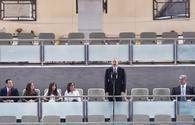 """President Ilham Aliyev, First Lady Mehriban Aliyeva attend opening ceremony of World Judo Championships in Baku <span class=""""color_red"""">[PHOTO]</span>"""