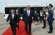 Mongolian president arrives in Azerbaijan