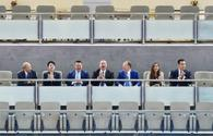 "Azerbaijani president watches fights at World Judo Championships <span class=""color_red"">[PHOTO]</span>"