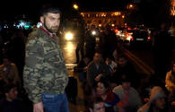 Protestors block parliament building in Yerevan