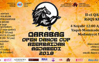 Karabakh Open Dance Cup to be held in Agjabedi