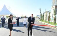 "President Ilham Aliyev, First Lady Mehriban Aliyeva attend inauguration of Shaki-Kish highway <span class=""color_red"">[PHOTO]</span>"