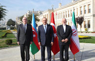 "Azerbaijani, Iranian, Turkish FMs sign Istanbul Declaration <span class=""color_red"">[PHOTO]</span>"