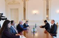 """President Aliyev receives delegation led by Palestinian foreign minister <span class=""""color_red"""">[UPDATE]</span>"""
