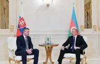 President Aliyev: Azerbaijan-Slovakia ties important in terms of developing country`s cooperation with EU
