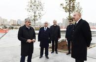 "Azerbaijani president views redevelopment, construction work around Tazapir mosque <span class=""color_red"">[PHOTO]</span>"
