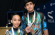 Azerbaijani gymnast talks tough rivalry at FIG Acrobatic Gymnastics World Cup in Baku