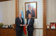 """Azerbaijani FM receives newly appointed ambassador of Afghanistan <span class=""""color_red"""">[PHOTO]</span>"""