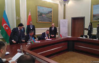 """Documents signed during Azerbaijan-Belarus business forum in Baku <span class=""""color_red"""">[PHOTO]</span>"""