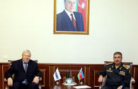 Azerbaijan defense minister mulls contact line situation with Kasprzyk
