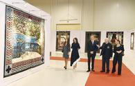 "President Ilham Aliyev, First Lady Mehriban Aliyeva view exhibition marking 90th anniversary of People's Artist Tahir Salahov <span class=""color_red"">[PHOTO]</span>"
