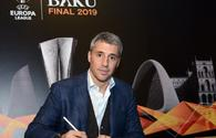 Argentina's Football Star at Europa League Museum in Baku