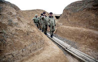 """Officials of Azerbaijan's Defense Ministry visit front zone <span class=""""color_red"""">[PHOTO]</span>"""