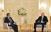 Ilham Aliyev receives former French president