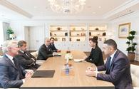 "First VP Mehriban Aliyeva meets France's former president Nicolas Sarkozy <span class=""color_red"">[PHOTO]</span>"