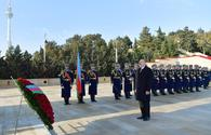 "Azerbaijani president, first lady pay tribute to January 20 martyrs <span class=""color_red"">[PHOTO]</span>"