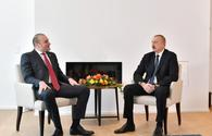 "President Ilham Aliyev meets Georgian PM in Davos <span class=""color_red"">[PHOTO]</span>"