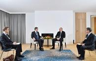 "Azerbaijani president meets with Visa president in Davos <span class=""color_red"">[PHOTO]</span>"