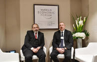 Azerbaijani President Aliyev, Armenian PM held informal meeting in Davos
