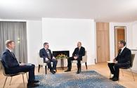 President Aliyev meets The Boston Consulting Group CEO in Davos