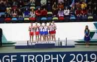 "Winners of synchronous trampoline competition as part of World Cup awarded in Baku <span class=""color_red"">[PHOTO]</span>"