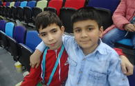 Young spectators: World Cup in Trampoline and Tumbling in Baku was very interesting