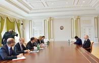 """Azerbaijani president receives delegation led by EBRD president <span class=""""color_red"""">[UPDATE]</span>"""