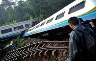 At least 9 wounded as train derails in West Java, Indonesia