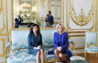 """Azerbaijani First VP Mehriban Aliyeva meets with French First Lady <span class=""""color_red"""">[PHOTO]</span>"""
