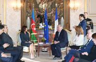 """First Vice-President of Azerbaijan Mehriban Aliyeva meets President of French Senate Gerard Larcher <span class=""""color_red"""">[PHOTO]</span>"""
