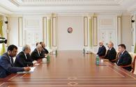"Azerbaijani president receives delegation led by Iranian minister <span class=""color_red"">[UPDATE]</span>"