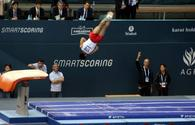 South Korean gymnast grabs gold in vault exercises of FIG Artistic Gymnastics World Cup