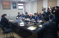 """Azerbaijani ministry meets businessmen who suffered from fire in Diglas shopping center <span class=""""color_red"""">[PHOTO]</span>"""