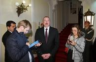 President Ilham Aliyev gives interview to Russian TASS news agency in Vienna