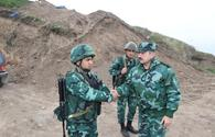"Combat readiness of Azerbaijan's checkpoints on border with Armenia checked <span class=""color_red"">[PHOTO]</span>"