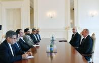 Azerbaijani president receives delegation led by Iranian minister of industry, mine, trade