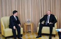 "President Ilham Aliyev meets chairman of ZTE Corporation in Beijing <span class=""color_red"">[UPDATE]</span>"