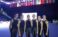 "Spanish gymnasts talk on big and beautiful National Gymnastics Arena in Baku <span class=""color_red"">[PHOTO]</span>"