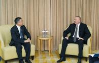"President of Azerbaijan Ilham Aliyev meets Huawei Chairman in Beijing <span class=""color_red"">[UPDATE]</span>"