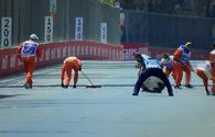 Accident during F2 qualifying rounds in Baku