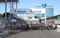 "Cycling event held at Baku City Circuit before F1 SOCAR Azerbaijan Grand Prix 2019 <span class=""color_red"">[PHOTO]</span>"