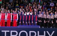 """Award ceremony of World Cup in group teams all-around held in Baku <span class=""""color_red"""">[PHOTO]</span>"""