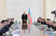 """President Ilham Aliyev chairs Cabinet meeting on results of 1Q2019 &amp; future tasks <span class=""""color_red"""">[PHOTO]</span>"""