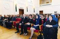 """President Aliyev, First Lady Mehriban Aliyeva attend farewell ceremony for prominent composer Arif Malikov <span class=""""color_red"""">[PHOTO]</span>"""