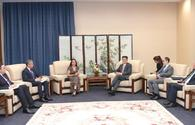 """Vice-President of Heydar Aliyev Foundation Leyla Aliyeva meets with Chinese vice foreign minister <span class=""""color_red"""">[PHOTO]</span>"""